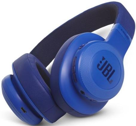 JBL E55BT Wireless over-ear headphones (Blue)