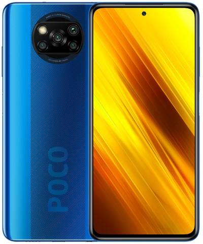 Xiaomi Pocophone X3 NFC Dual Sim 64GB Blue (6GB RAM) - Global Version + FREE Mi True Wireless Earphones White