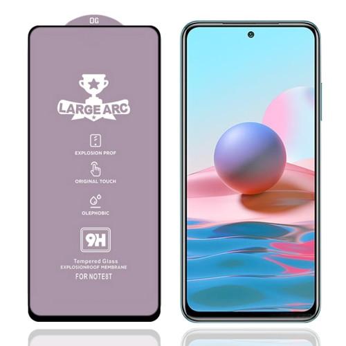9H HD Large Arc High Alumina Full Screen Tempered Glass Film for Xiaomi Redmi Note 10