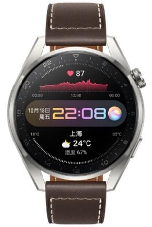 Original Huawei Watch 3 Pro 48mm GLL-AL01 Fashion Brown Leather Strap