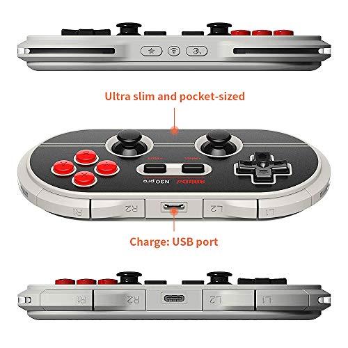 8Bitdo N30Pro2 Bluetooth Wireless Gamepad Game Controller (Grey)