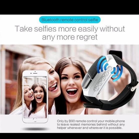 B90 Smart Portable Stereo Wireless Bluetooth V3.0 + EDR Sport Music Watch Speaker(Blue)