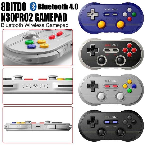 8Bitdo N30Pro2 Bluetooth Wireless Gamepad Game Controller (Purple)